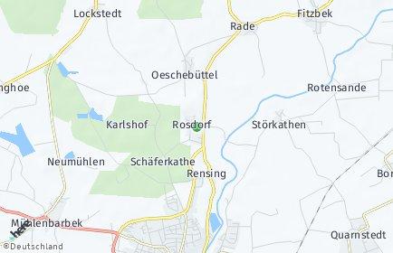 Stadtplan Rosdorf (Holstein)