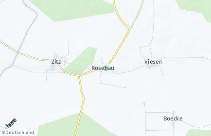 Stadtplan Rosenau (Brandenburg)