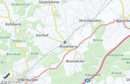 Stadtplan Rosenberg (Baden)