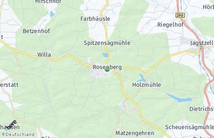 Stadtplan Rosenberg (Württemberg) OT Hütten