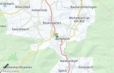 Stadtplan Rosengarten (Kocher)