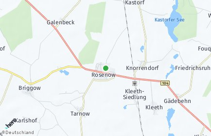 Stadtplan Rosenow OT Luplow