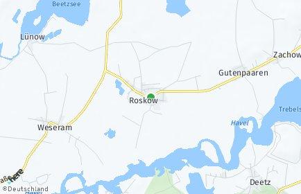Stadtplan Roskow