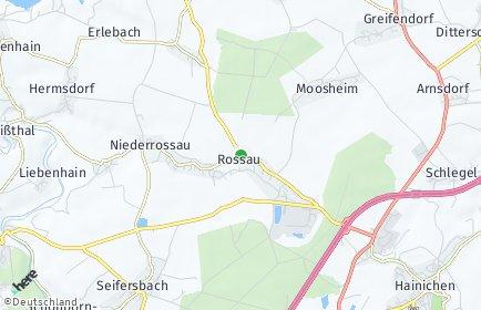 Stadtplan Rossau (Sachsen) OT Moosheim