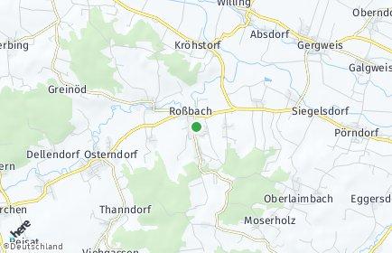 Stadtplan Roßbach (Niederbayern)