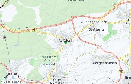 Stadtplan Roßdorf bei Darmstadt