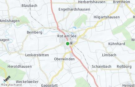 Stadtplan Rot am See OT Hausen