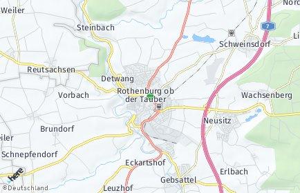 Stadtplan Rothenburg ob der Tauber