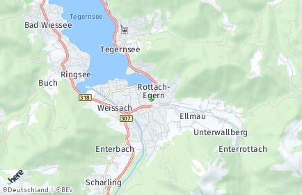 Stadtplan Rottach-Egern
