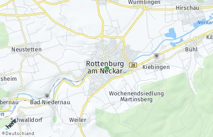Stadtplan Rottenburg am Neckar