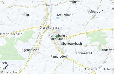 Stadtplan Rottenburg an der Laaber OT Kreuzthann