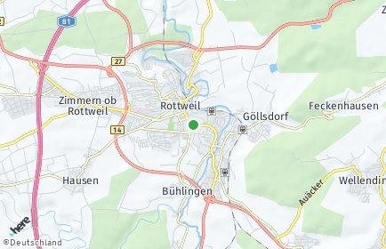 Stadtplan Rottweil OT Vaihinger Hof