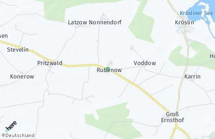 Stadtplan Rubenow