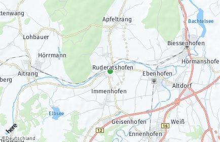 Stadtplan Ruderatshofen OT Hiemenhofen