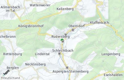 Stadtplan Rudersberg