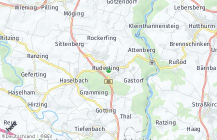 Stadtplan Ruderting