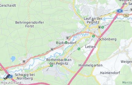 Stadtplan Rückersdorf (Mittelfranken)