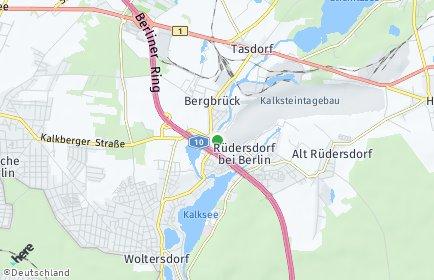 Stadtplan Rüdersdorf bei Berlin