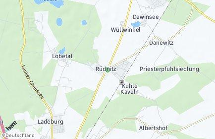 Stadtplan Rüdnitz