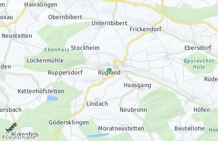 Stadtplan Rügland OT Obernbibert