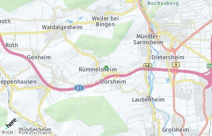 Stadtplan Rümmelsheim/Burg Layen