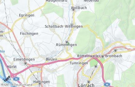 Stadtplan Rümmingen