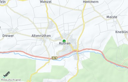 Stadtplan Rüthen
