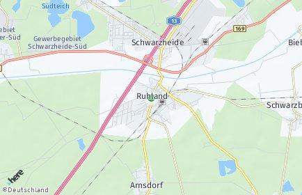 Stadtplan Ruhland