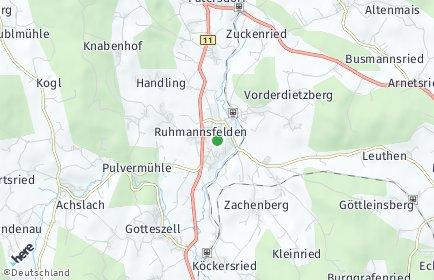 Stadtplan Ruhmannsfelden