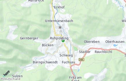 Stadtplan Ruhpolding