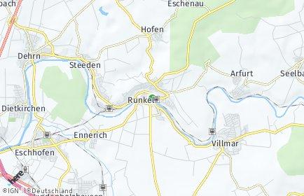 Stadtplan Runkel