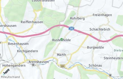 Stadtplan Rustenfelde