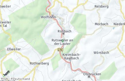 Stadtplan Rutsweiler an der Lauter