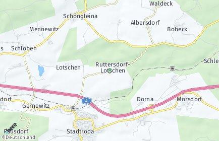Stadtplan Ruttersdorf-Lotschen