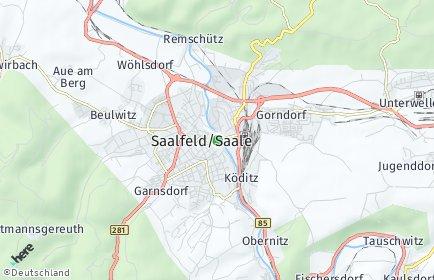 Stadtplan Saalfeld/Saale