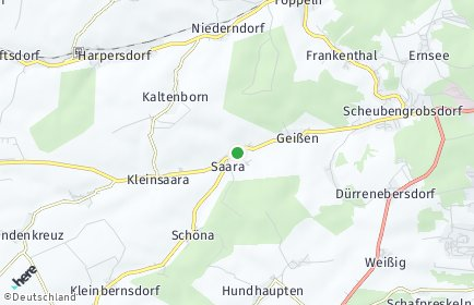 Stadtplan Saara bei Gera