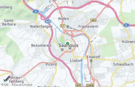 Stadtplan Saarlouis