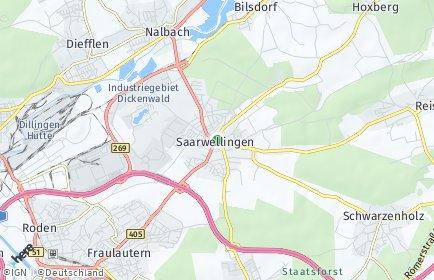 Stadtplan Saarwellingen