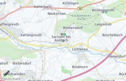 Stadtplan Sachsen bei Ansbach