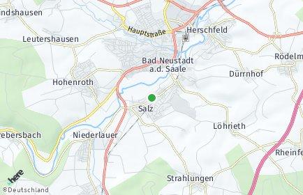 Stadtplan Salz (Unterfranken)