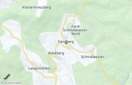 Stadtplan Sandberg