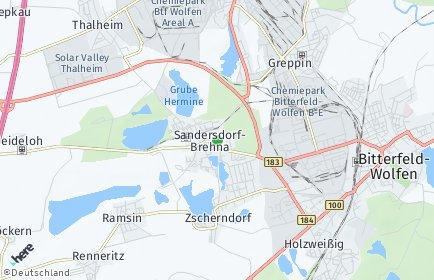 Stadtplan Sandersdorf-Brehna