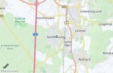Stadtplan Sandhausen