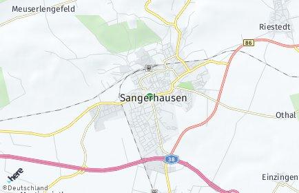 Stadtplan Sangerhausen
