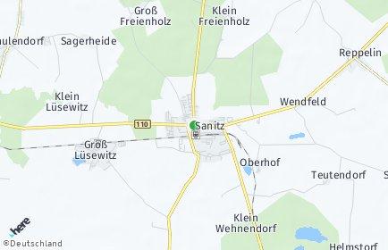 Stadtplan Sanitz