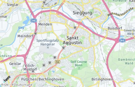Stadtplan Sankt Augustin