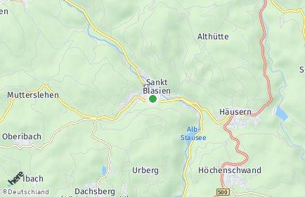 Stadtplan Sankt Blasien