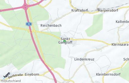 Stadtplan Sankt Gangloff