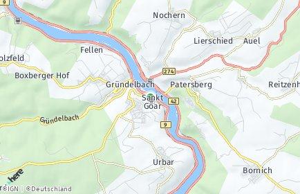 Stadtplan Sankt Goar