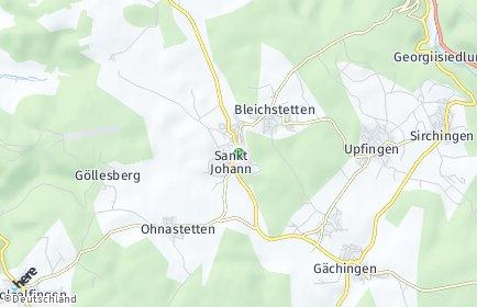 Stadtplan Sankt Johann (Württemberg) OT Upfingen